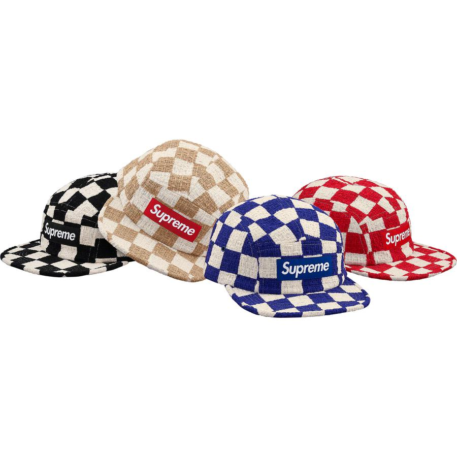 Checkerboard Bouclé Camp Cap - Cotton blend Supreme camp cap.