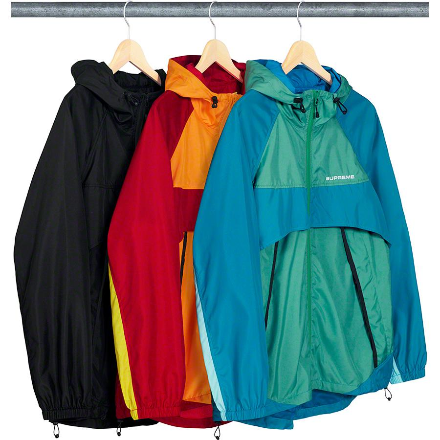 Paneled Hooded Windbreaker - Water resistant poly with mesh lining and full  zip closure. Zip 0bdb8ceb9
