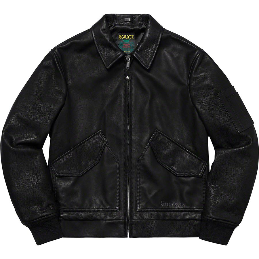 aab3da0f9bc1 Week 6 Supreme®/Schott® Leather Tanker Jacket - Custom fit cowhide leather  with satin lining