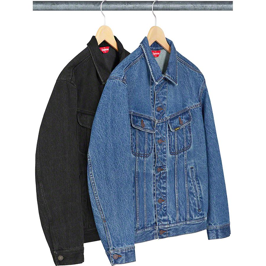 New York Painted Trucker Jacket - All cotton 14oz. denim with button front closure. Hand pockets at lower front and chest pockets with button closures. Printed graphic with rhinestone appliqué on back.