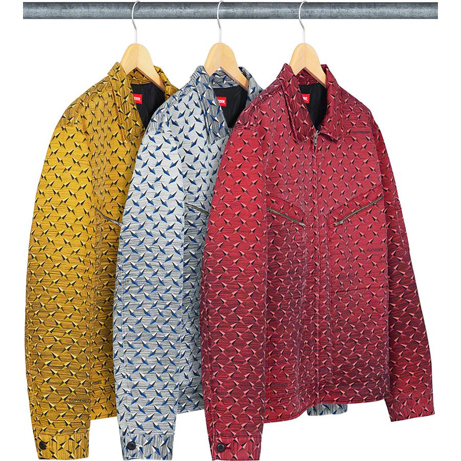 a4e6e1499e6 Diamond Plate Work Jacket - Heavy cotton blend twill with printed pattern