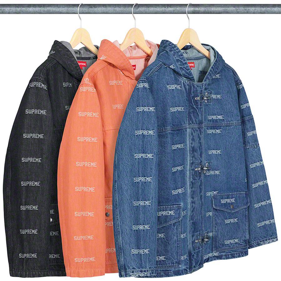 Logo Denim Turnout Jacket - All 14oz. cotton denim with jacquard logo  pattern d192e6826