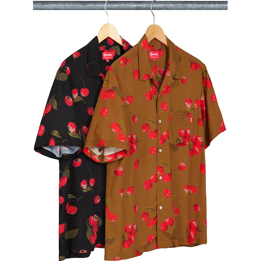 Cherry Rayon S/S Shirt - Rayon with printed pattern and single chest pocket.