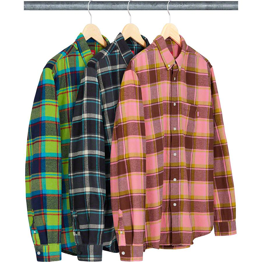 Plaid Flannel Shirt - All cotton with button down collar and single chest pocket.