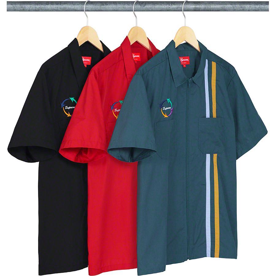 supreme zip up shirt
