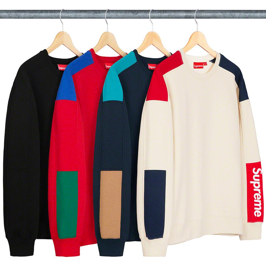 Formula Crewneck - Cotton fleece with printed logo on contrast sleeve panel.