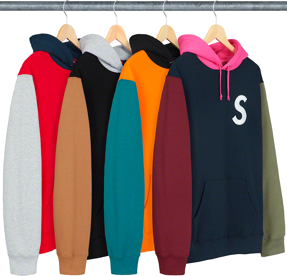 e0eef79bbc28 Details Supreme S Logo Colorblocked Hooded Sweatshirt - Supreme ...