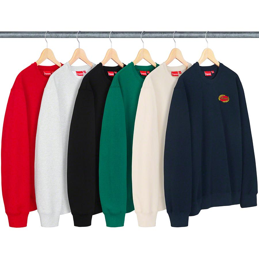 Chain Logo Crewneck - Cotton fleece with embroidered logo on chest.