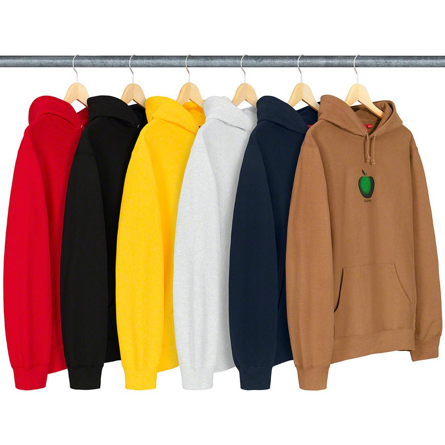 Apple Hooded Sweatshirt - Cotton fleece with rib gussets, pouch pocket and printed graphic on chest.