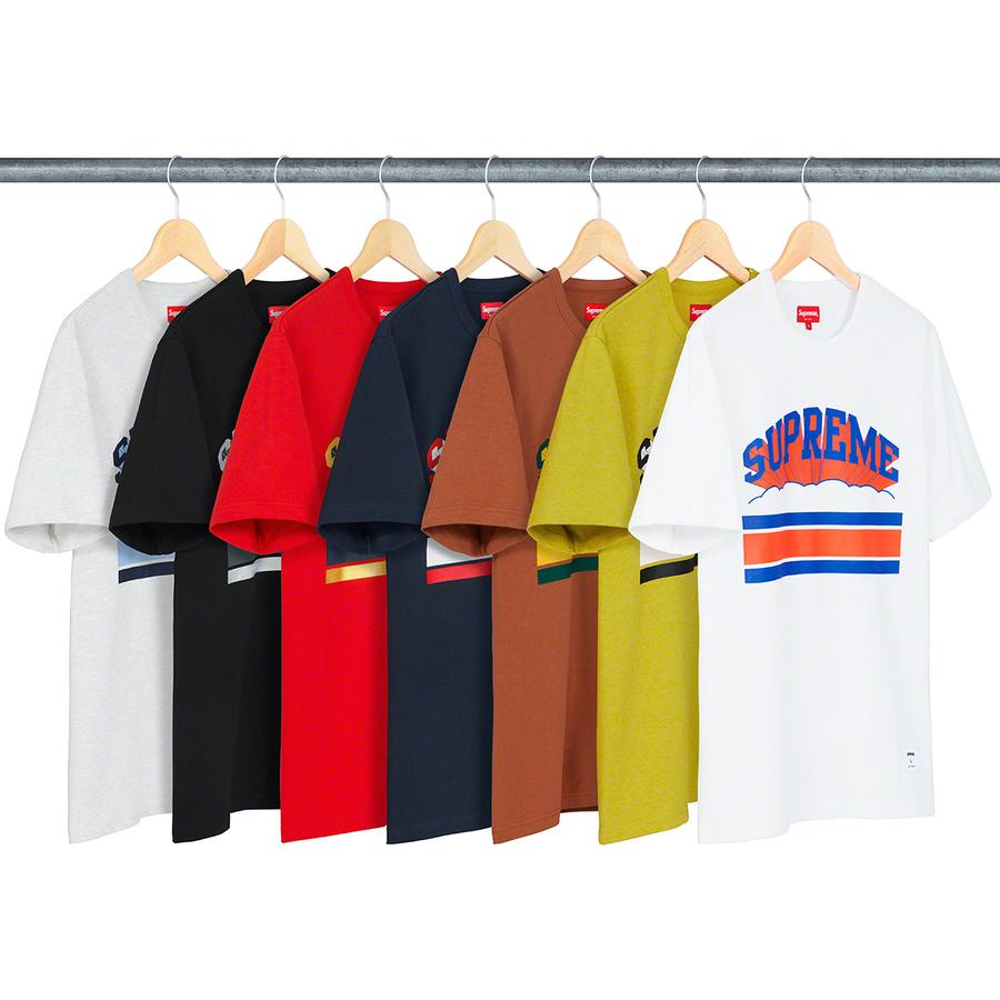 Cloud Arc Tee - All cotton slub jersey crewneck with printed logo on chest. Athletic label at lower front.